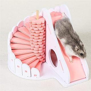 Airlove 木製ハムスターの隠れ家小動物登山梯子スライドグッズマウスチンチラとドワーフハムスター