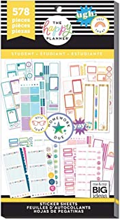 Me & My Big Ideas PPSV-127 Happy Planner Sticker Value Pack-Functional (Student)