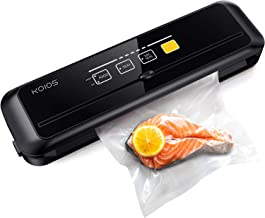 KOIOS Sleek Vacuum Sealer Machines, 10 Sealing Bags(Size L), Automatic Food Sealers with Cutter, Dry & Moist Modes, With U...