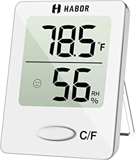 Habor Digital Hygrometer Indoor Thermometer, Humidity Gauge Indicator Room Thermometer, Accurate Temperature Humidity Moni...