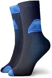 Kevin-Shop, Calcetines Tobilleros con diseño de Medusa Azul Calcetines Casuales y acogedores para Hombres, Mujeres, niños
