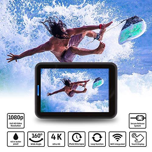 Rollei Actioncam 560 Touch – WiFi Action-Cam wasserdicht 4k 60 FPS – Sports-Cam mit Touchscreen, Unterwasser-Filter, Fotointervallaufnahmen mit 160° Super-Weitwinkel-Objektiv mit viel Zubehör - 2