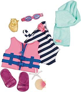 """Our Generation- Fun Day Sun Day Swimsuit- Toys, Accessories & Outfits for 18"""" Dolls- for Girls Ages 3 Years and up."""