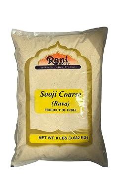 Rani Sooji (Farina, Suji, Rava, Rawa, Semolina) Flour, Coarse 8lbs (128oz) ~ All Natural   Vegan   NON-GMO   Indian Origin
