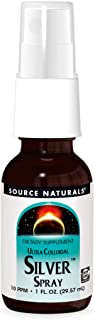 Source Naturals Ultra Colloidal Silver Spray 10 ppm for Wellness Support - 1 Fluid oz