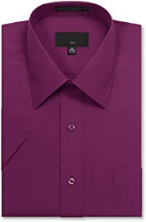 JD Apparel Men's Regular Fit Short-Sleeve Dress Shirts