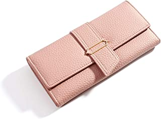 Women Clutch Wallet Purse Long Evening Handbag Leather Credit Card Organizer Phone Holder