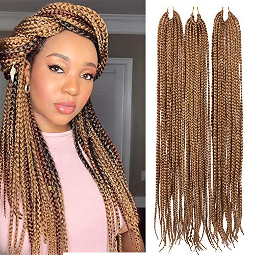 Eunice 6 piece Deal Box braids Crochet Hair 61cm Mambo Twist Braid Hair 20strands / Lot Medium Box braids Crochet Hair Extensions synthetic hair