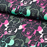Stoff Baumwoll-Sweat Minnie Mouse - 50cm x 160cm -
