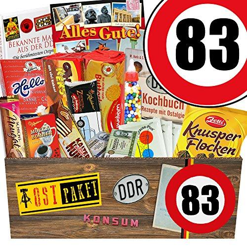 Geschenkideen zum 83. Geburtstag - Süssigkeiten Box mit Waren DDR + Geschenkverpackung