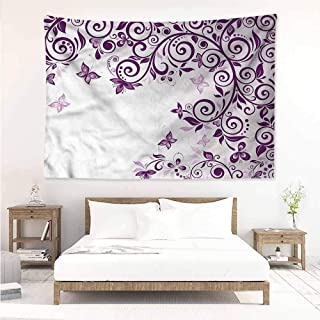 Sunnyhome High-end Quality Tapestry,Mauve Lilium Floral Branch,Beach Tapestry,W63x47L