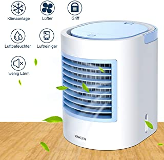 Dispositivo de aire acondicionado portátil, aire acondicionado pequeño, enfriador portátil, posibilidad rápida y fácil de enfriar el espacio personal, adecuado para la cama, la oficina y el despacho.
