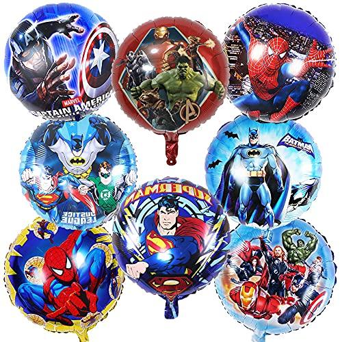 MEZHEN Palloncini per Supereroi Decorazioni Festa Avengers Palloncini Compleanno Decorazioni Palloncino Supereroe Palloncino per Decorazioni Compleanno Bambino 8 Pezzi