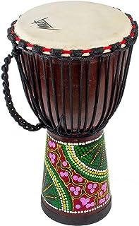 AKLOT African Drum, Djembe Hand-Carved Bongo Congo Djembe Drum 9.5'' x 20'' Mahogany Goatskin Drumhead for Children Starte...