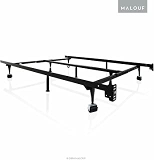 STRUCTURES by Malouf Heavy Duty 9-Leg Adjustable Metal Bed Frame with Center Support and Rug Rollers - UNIVERSAL (King, Cal King, Queen, Full, Twin XL, Twin)
