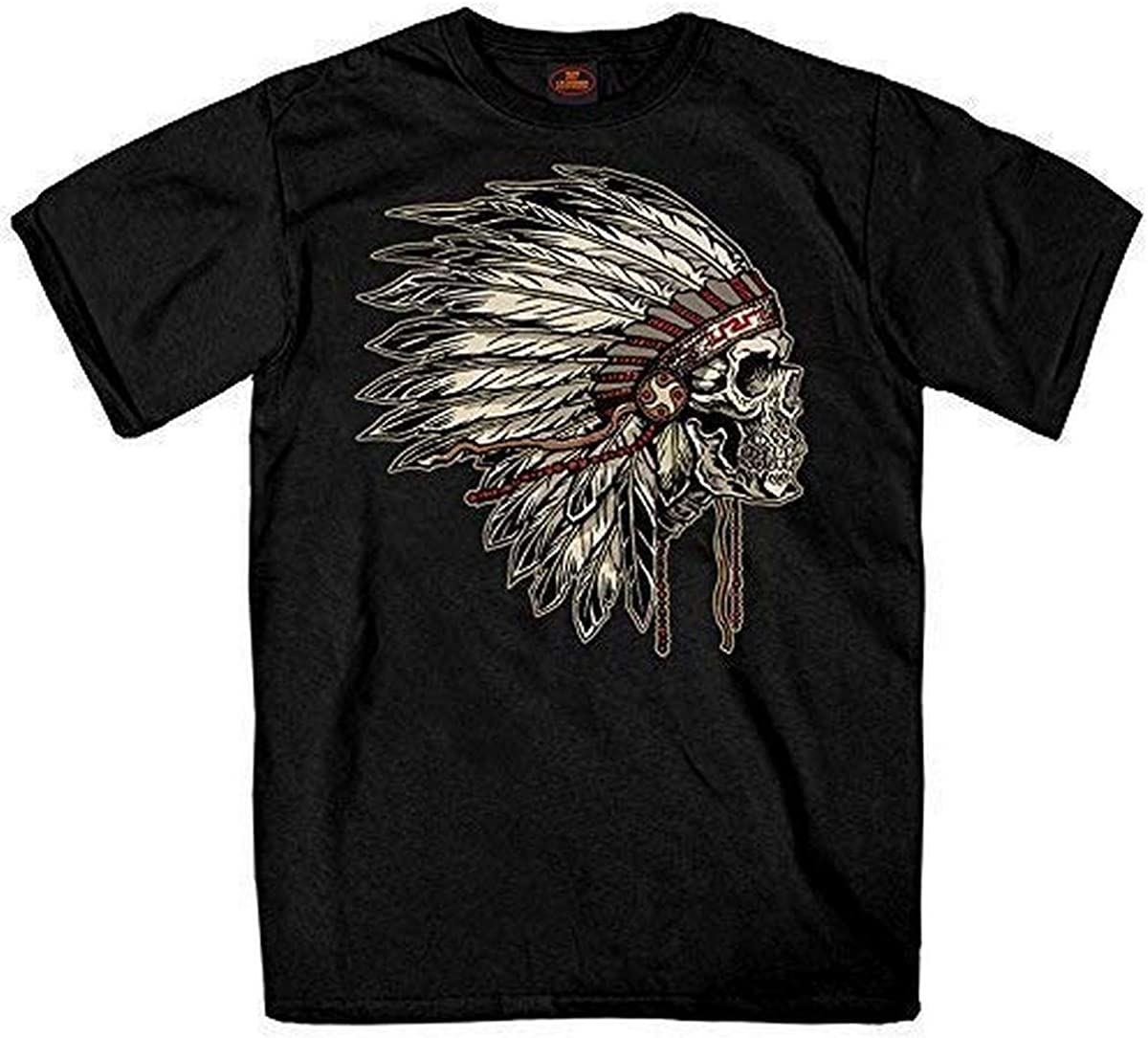 Hot Leathers Earthtones Headdress 1% Cotton Double Sided Printed Biker T-Shirt