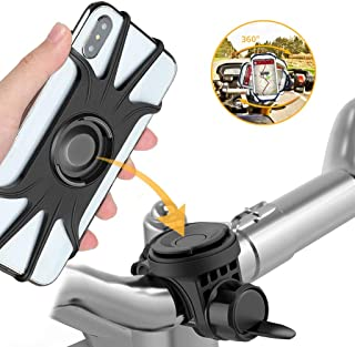 Hapo Bike Phone Mount for Xiaomi M365 Scooter/Segway Ninebot ES4/3/2/1 / GOTRAX GXL Phone Holder for All 4.0-6.5 inch Smartphone