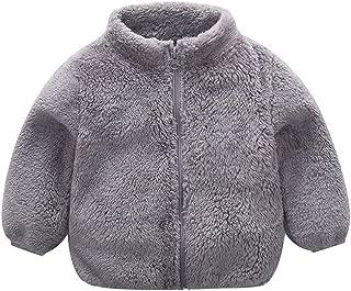 PanjoMe Baby Boys Fleece Jackets Infant Zip-up Stripes Lightweight Outerwear