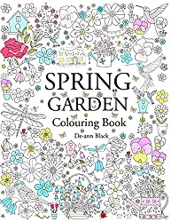 spring garden colouring book