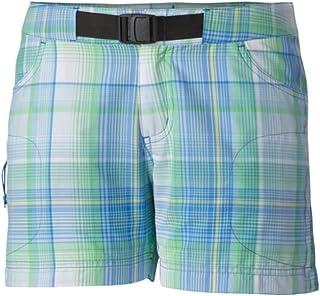 Columbia Sportswear Women's Cross on Over II Plaid Shorts, Harbor Blue, 16 x 4