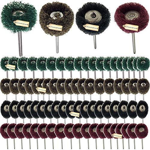 Ltsstoreuk Polierscheiben-Set, 2,5 cm, 80er-Pack, Körnung 150, Körnung 240, Körnung 300, kompatibel mit Dremel Drehwerkzeug