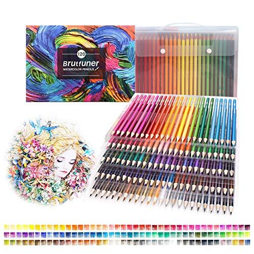 Lápices de colorear, 120 lápices de colores profesionales para dibujar, acuarelas, para niños y adultos, bocetos, garabatos, pintura, escritura, preafilados, numerados