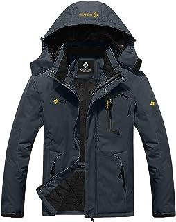 GEMYSE Men's Mountain Waterproof Ski Jacket Windproof Rain Jacket - Grey - XX-Large