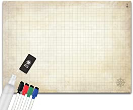 Battle Grid Game Mat - Ultra Durable Polymer Material - Role-Playing Grid Map - Reusable Tabletop Squares - Dungeons RPG D...