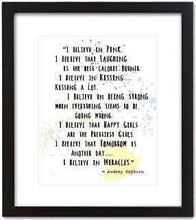 Wall Art Print ~ Audrey Hepburn Beauty/Fashion Quote: