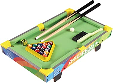 Tabletop Billiards Snooker Table Kids Pool Table Mini Pool Table Non-Toxic Materials Durable Complete Accessories Save Space