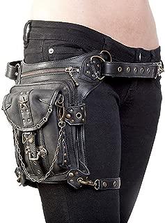 UIYTR Steampunk Retro Motorcycle Bag Lady Bag Retro Rock Gothic Goth Shoulder Waist Bag Drop Leg Bag
