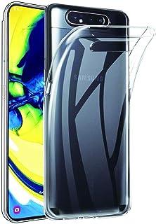 جراب حماية مرن مصنوع من البولي يوريثين حراري لموبايل سامسونج جالاكسي A80/A90 - شفاف