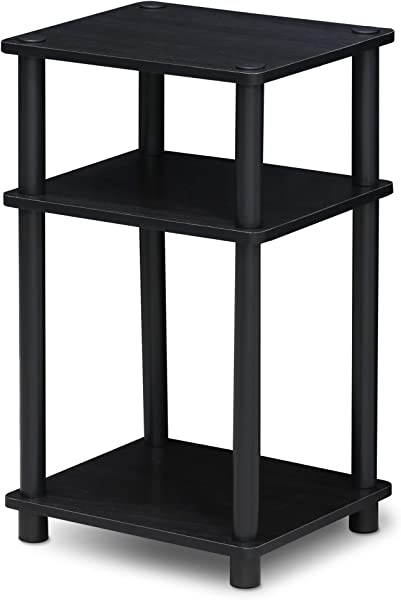 Furinno 11087AM BK Just 3 Tier No Tools Tube End Table 1 Pack Americano Black