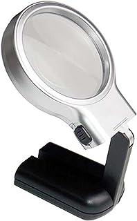 Vergrootglas LED Handheld Opvouwbaar met Licht - 3X Lens Verlichte Leesloep voor Boeken, Kranten, Kaarten, Munten, Sierade...