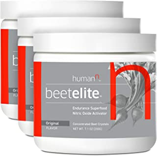 HumanN BeetElite | Superfood Concentrated Beet Powder Nitric Oxide Boosting Athletic Endurance Supplement (Original Apple Flavor, 7.1-Ounce, 3-Pack)