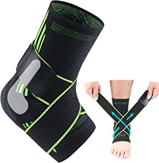 Sponsored Ad - Ankle Support, Adjustable Ankle Brace, With Elastic & Breathable & Silicone Shock Absorber, Ankle Braces Us...