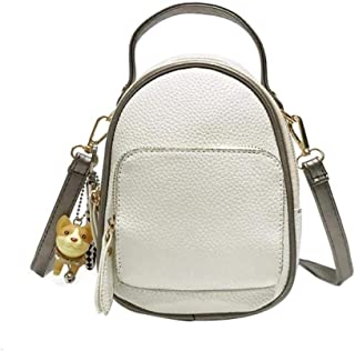 Women's PU Leather Backpack Cute Zipper Bags Convertible Leisure Ladies Mini Purse Rucksack
