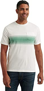 Lucky Brand Men's Short Sleeve Crew Neck Chest Stripe Sunset Pocket Tee