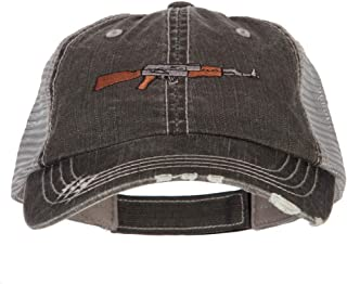 e4Hats.com AK-47 Rifle Embroidered Low Profile Mesh Cap