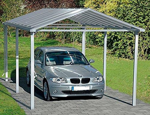 Beckmann Aluminium Carport 310 x 560 x 267 cm Aluminium natur