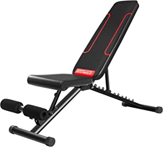 FITMATEトレーニングベンチ 腹筋 フォールディング フラットインクラインベンチ 折り畳み ダンベルベンチ ブラック