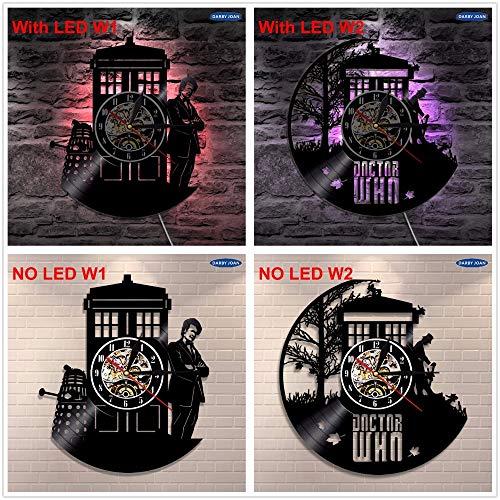 3D Vinyl Wanduhr Silhouette Hintergrundbeleuchtung moderne Lampe Vinyl Uhr Verfärbung Art-Deco-Fernbedienung Rekord Nachtlicht