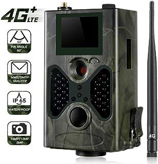 YKJL Trampa fotográfica de cámara de Vida Salvaje 4G Cámara de Caza Impermeable IP65 con Detector de Movimiento Transmisión de teléfono Celular 16MP 1080P- A