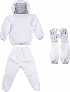 Geboor Professional Beekeeping Suit Including Jacket Pant and Long Sleeve Gloves Suitable for Beginner and Commercial Beekeeper