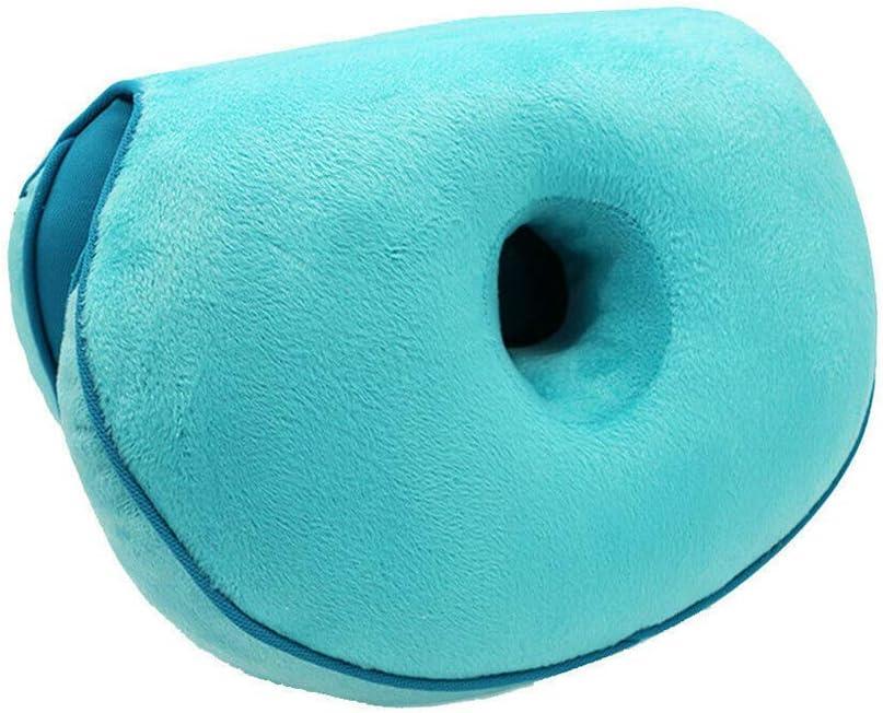 Hueso de la Cola y Cadera Coj/ín ortop/édico de Espuma viscoel/ástica para el Dolor de ci/ática Alivio de la presi/ón en la Espalda CHuangQi Dual Comfort Cushion Lift Hips Up Coj/ín de Asiento