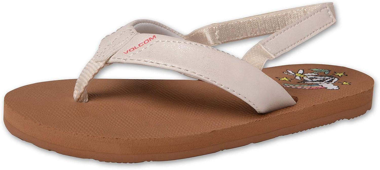 Volcom Girls Vicky Little Girls Flip Flop Heel Strap Sandals