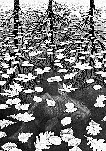 Escher Poster 10 Tre mondi cm 70x100 Poster Affiche Plakat Fine Art Il Negozio di Alex