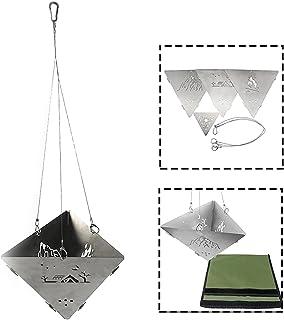Draagbare roestvrijstalen campingkachel met geometrische vorm, duurzame lichtgewicht eenvoudige bediening handig voor outd...