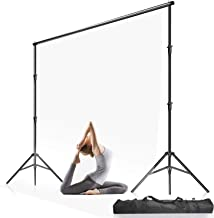 $33 » Julius Studio 10 ft. Max Wide 9.4 ft. Max Height Adjustable Background Support Stand, Backdrop Stands Equipment Used in Photography Video Studio for Backdrop Muslin with with Carry Bag, LNA1106