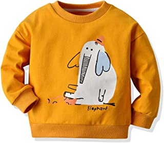 0-3 Months Baby Girl Boy Clothes,Toddler Kids Baby Boys Sweatshirt Animal Cartoon Print Shirt Tops Tee Clothes